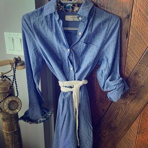 Jean dress from Anthropologie